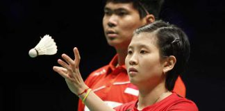 Praveen Jordan and Debby Susanto (right) of Indonesia