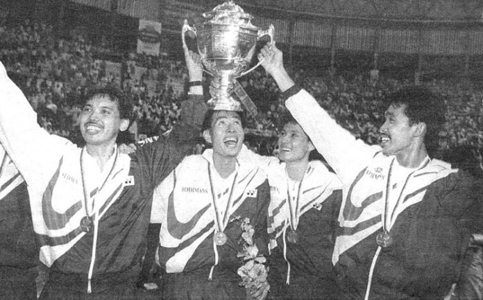 Rashid Sidek plays major role in Malaysia's 1992 Thomas Cup victory.