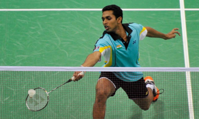 HS Prannoy plays Firman Abdul Kholik in the Indonesian Masters Final