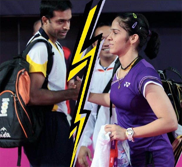Saina Nehwal with coach Gopichand