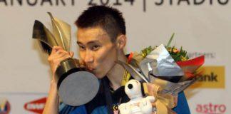 Lee Chong Wei represents Petaling badminton club in Malaysia Purple League