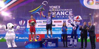 Chou Tien Chen defeats Wang Zhengming to win French Open title