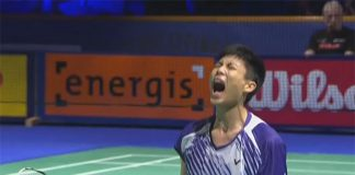 Chou Tien Chen was ecstatic over his remarkable come from behind win
