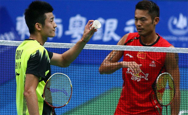 Chen Long (left) and Lin Dan are the China Open favorites