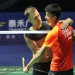 Marc Zwiebler console Chen Long after beating him at the second round of China Open