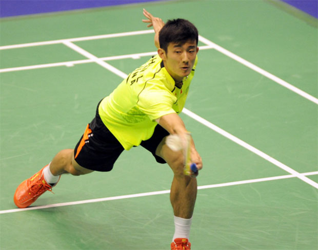Chen Long is on course to win the Hong Kong Open title