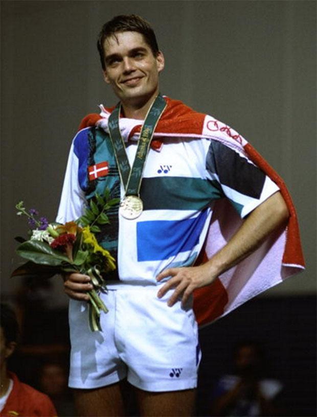 Poul-Erik Hoyer Larsen won men's singles gold medal at the 1996 Atlanta Olympics