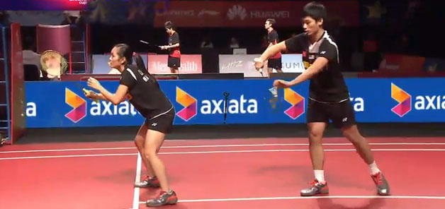 Chan Peng Soon and Lai Pei Jing are actually the best mixed doubles in Malaysia, don't know why their coaches keep partnering them with other players