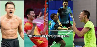 2014 badminton player of the year nominees - Lin Dan, Chen Long, Lee Yong Dae, Yoo Yeon Seong, Zhang Nan