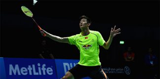 Chen Long takes on K. Srikanth in the Dubai Superseries semi-final