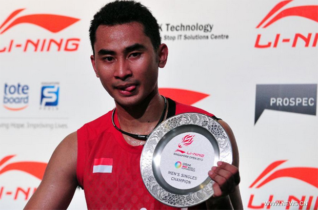 Tommy Sugiarto plays in next year's Yonex Sunrise Malaysia Grand Prix Gold from Jan 13-18