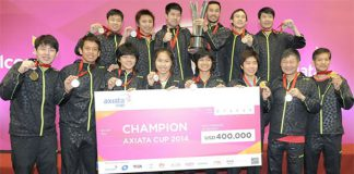 The 2014 Axiata Cup Champion - Thailand