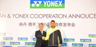 Lin Dan at the Yonex signing ceremony
