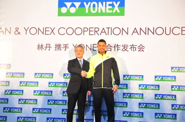 Lin Dan at the Yonex signing ceremony