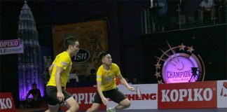 Ow Yao Han (left) and Tan Boon Heong are one of the strongest men's doubles at Purple League