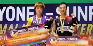 Lee Hyun-il beats compatriot beat compatriot Jeon Hyeok-jin to win the men's singles title in the Malaysian Masters (Photo: Bernama)