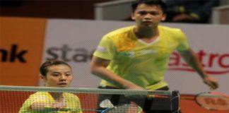 Hendra Gunawan (back)/Mei Qili of Kepong BC (photo: sinar)