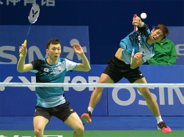 Lee Yong Dae (back) and Yoo Yeon Seong suffer 1st round exit at the All England