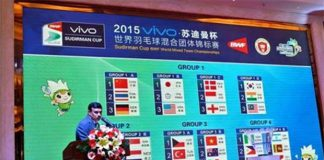 The 2015 Sudirman Cup will be held from May 10 till May 17