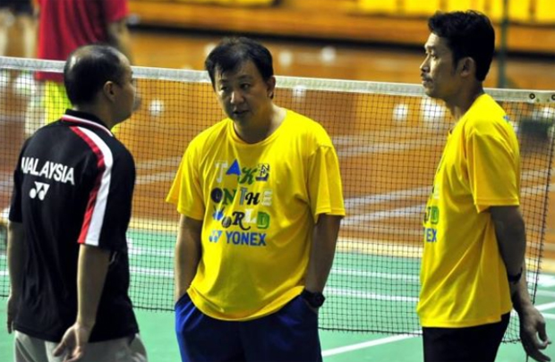 Hendrawan, Tey Seu Bock, Rashid Sidek (from left) have been coaching in BAM for many years.