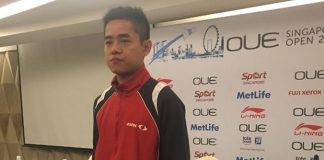 Simon Santoso at the OUE Singapore Open 2015 news conference (Photo: CROWD PR)