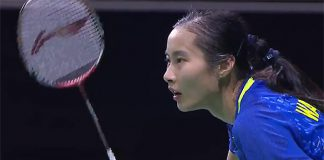 Wang Yihan lost to Tai Tzu Ying of Taiwan 16-21,21-9, 14-21 in the Singapore Open semi-final