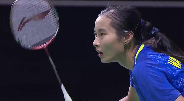 Wang Yihan lost to Tai Tzu Ying of Taiwan 16-21,21-9, 14-21 in the Singapore Open semi-final