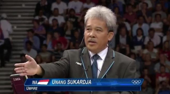 Unang Sukardja chaired the men's singles final in the London Olympic Games between Lin Dan and Lee Chong Wei, often called the best match ever played.