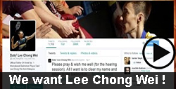 We Want Lee Chong Wei badminton video