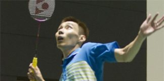 Lee Chong Wei during a training session at Dongguan before the start of Sudirman Cup. (photo: Reuters)