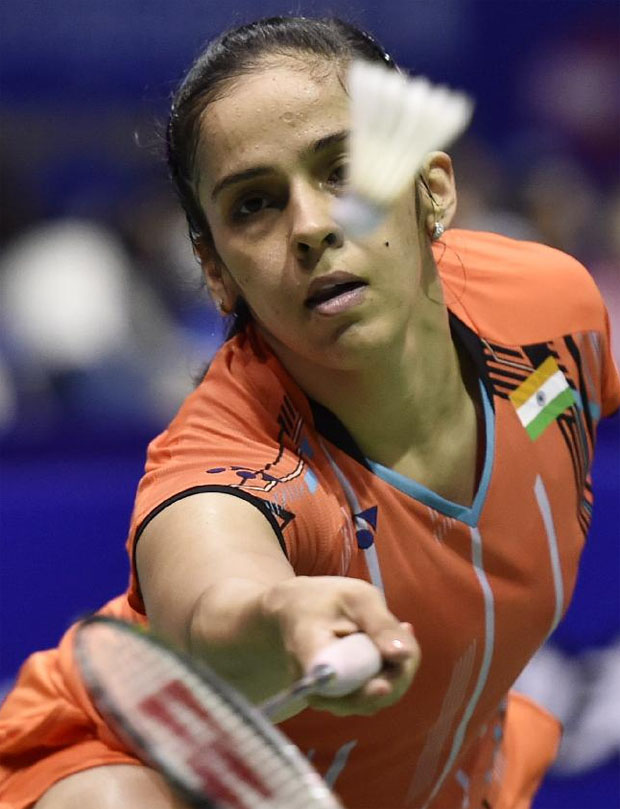 Saina Nehwal has gone undefeated at the 2015 Sudirman Cup.
