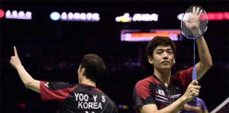 Yoo Yeon-Seong/Lee Yong-Dae (right) have a lot of fans in Dongguan, China