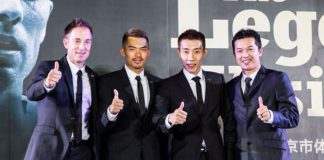 The so-called 4 Heavenly Kings of Badminton - Peter Gade, Lin Dan, Lee Chong Wei, Taufik Hidayat (from left)