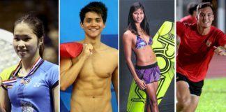 Ratchanok Intanon, Joseph Schooling, Sasha Christian, Max Ducourneau (from left) are the sexiest athletes in the 28th SEA Games.