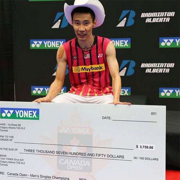 Congratulations to Lee Chong Wei for his Canada Open title! (photo: Lee Chong Wei's FB)