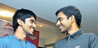 Kidambi Srikanth (left) with coach Pullela Gopichand