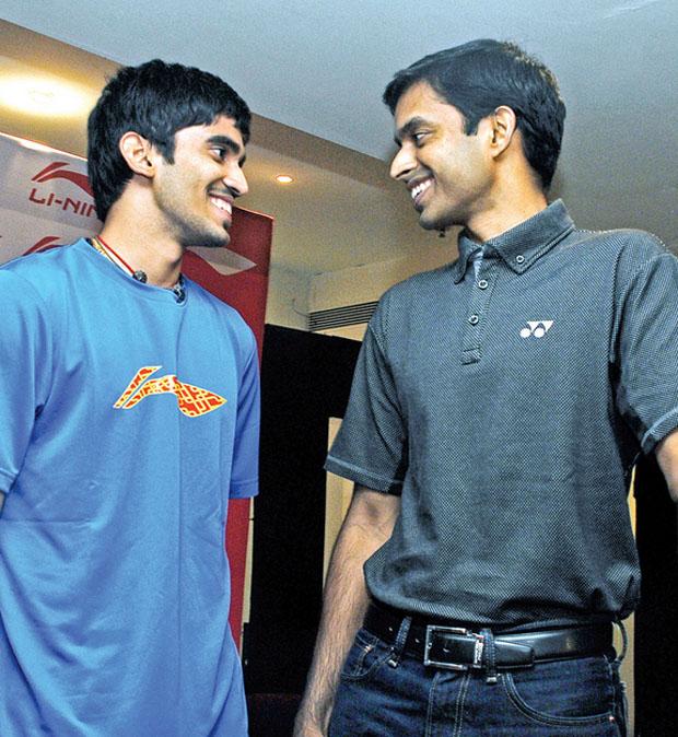 Kidambi Srikanth (left) with coach Pullela Gopichand