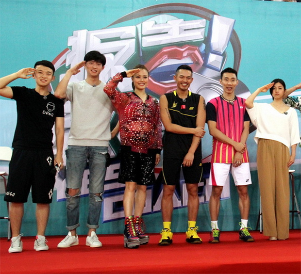 "Lee Chong Wei, Lin Dan and other celebrities that appear as contestants on the ""Yes! Coach"" reality TV show. (photo: HHW)"