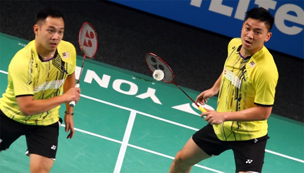 Koo Kien Keat & Tan Boon Heong will next face tough Russians Vladimir Ivanov/Ivan Sozonov for a place in the semi-finals. (photo: BWF)