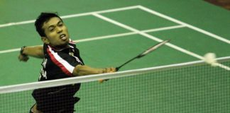 Iskandar Zulkarnain Zainuddin plays relentlessly and aggressively in the Perak Open quarter-finals.