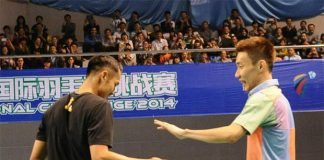 Lee Chong Wei (right) already exceeded alł expectations, so no pressure just go and enjoy it at the World Championships.