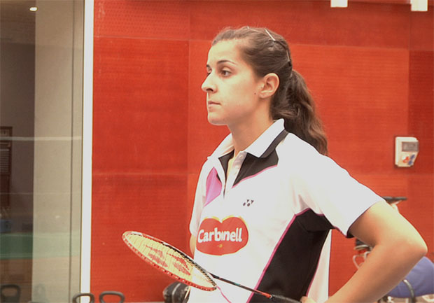 Carolina Marin is working to recover in time for the World Championships.