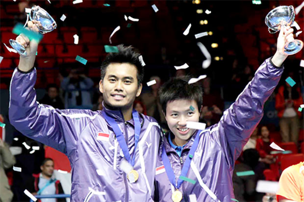 Good luck to Tontowi Ahmad (left) and Lilyana Natsir at the World Championships.