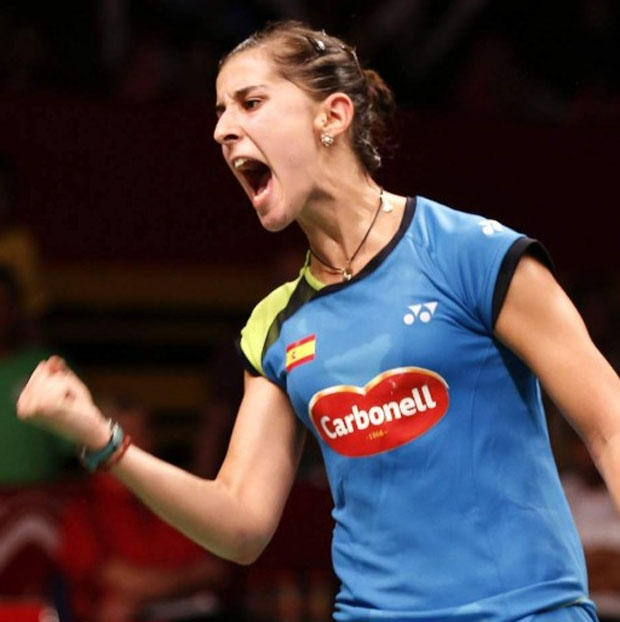 Carolina Marin cruises past Wang Shixian for semi-final place. (photo: Bagus Indahono/EFE)