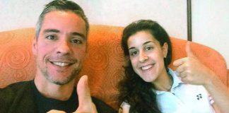 Fernando Rivas and Carolina Marin (photo: Twitter)