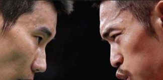 Lee Chong Wei sets up a blockbuster 2nd round match against Lin Dan at Japan Open.