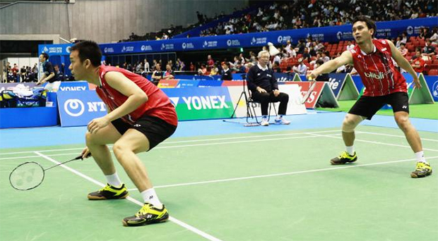 Mohammad Ahsan and Hendra Setiawan (left) should increase their stability. (photo: PBSI)