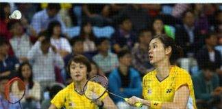 Best of luck to Vivian Hoo/Woon Khe Wei in Bitburger semis.