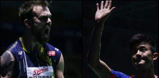 Both Jan Jorgensen (left) and Chen Long are probably the two best men's singles players this year.