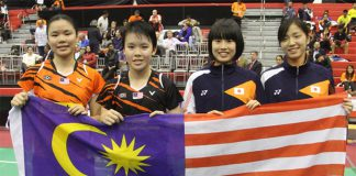 Goh Jin Wei, Lee Ying Ying, Moe Araki, and Natsuki Nidaira (from left). (photo: BWF)